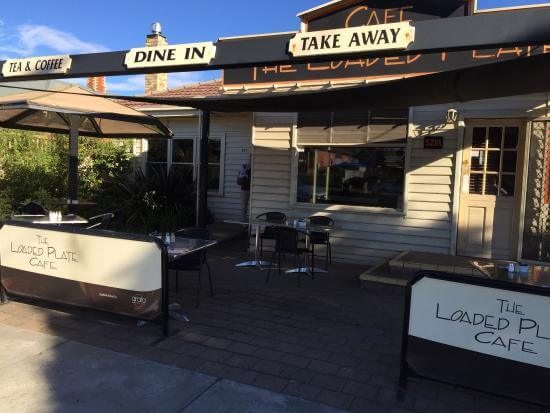 Image of outside cafe at The Loaded Plate